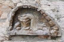 Sculpture of Jesus praying in the Garden of Gethsemane