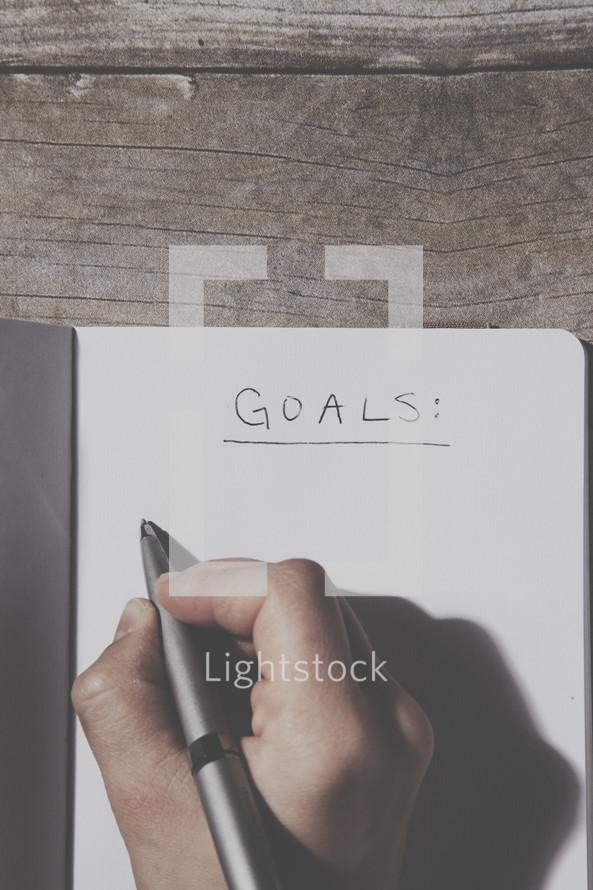 Making a goals list