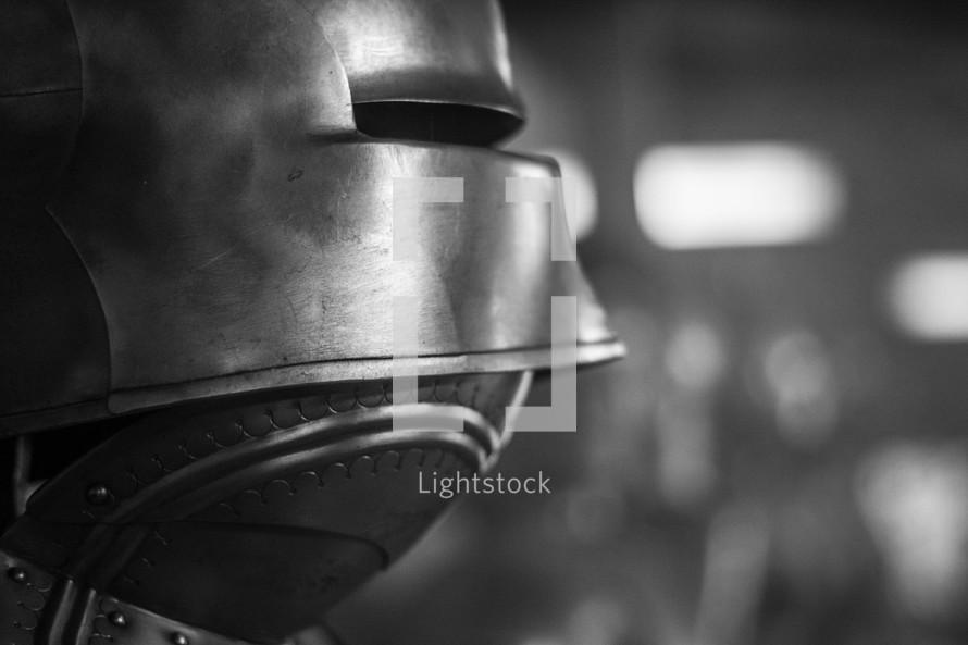 a knights helmet