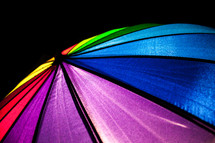radiating umbrella top rainbow