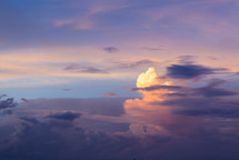 clouds in a purple and pink sky