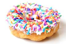 sprinkles on a donut