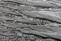 sand washed away on a beach