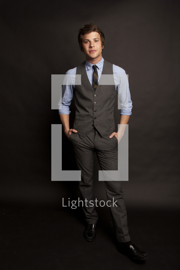 man in dress clothes