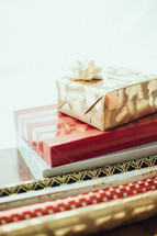 Christmas gifts and wrapping paper