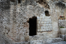 The empty tomb believed to be the actual site of the resurrection in Jerusalem, given by Joseph of Arimathea.
