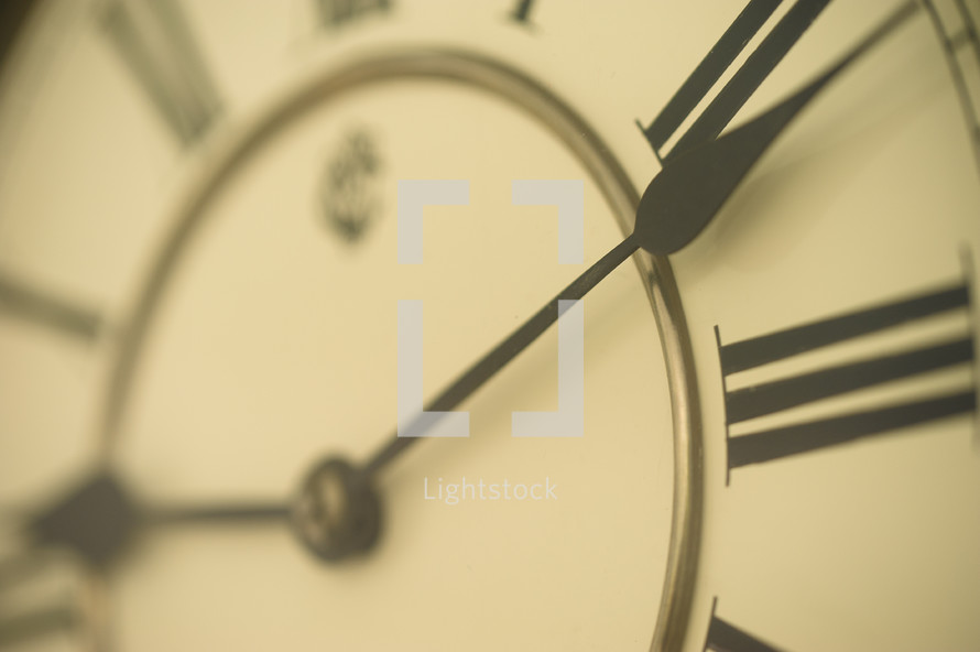 hands on a clock