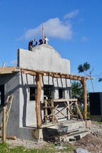 constructing a church in a village