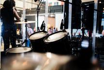 drum set at church