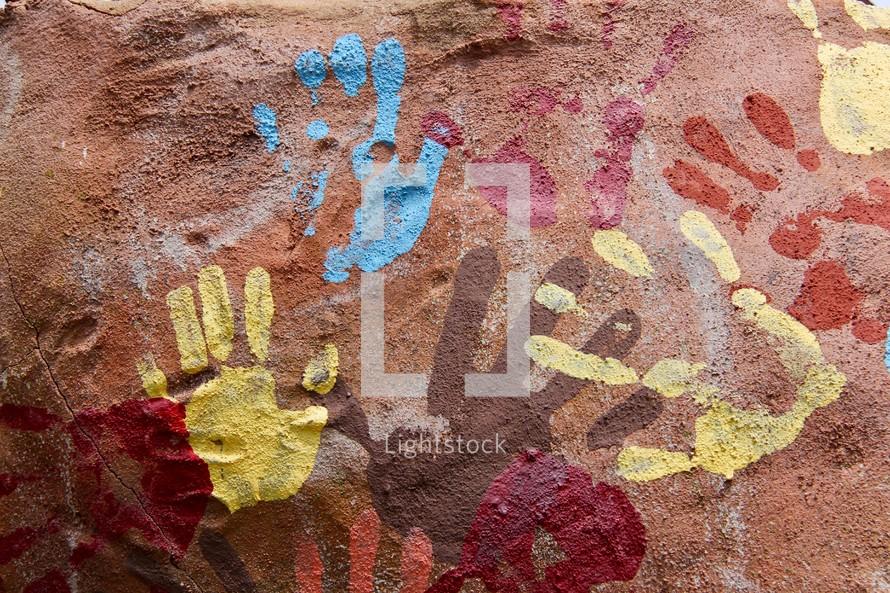 paint handprints