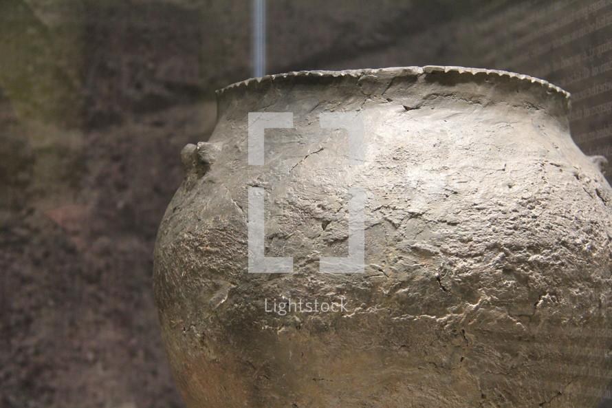 ancient clay pot