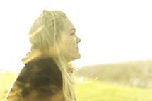 a woman taking in the fresh air