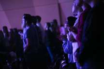 youth in the audience at a youth rally