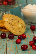 cranberries and cookies
