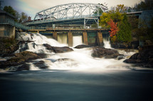 Autumn colors border the waterfalls in Bracebridge, ON.  This is a 20 second time-lapse.