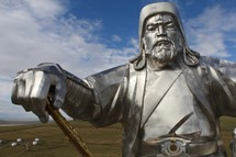 Statue of Kublai Khan Leader of the Mongolian Empire
