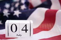 July Fourth calendar