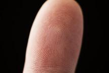 closeup of a person's fingerprint.