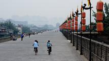 Bikers in China