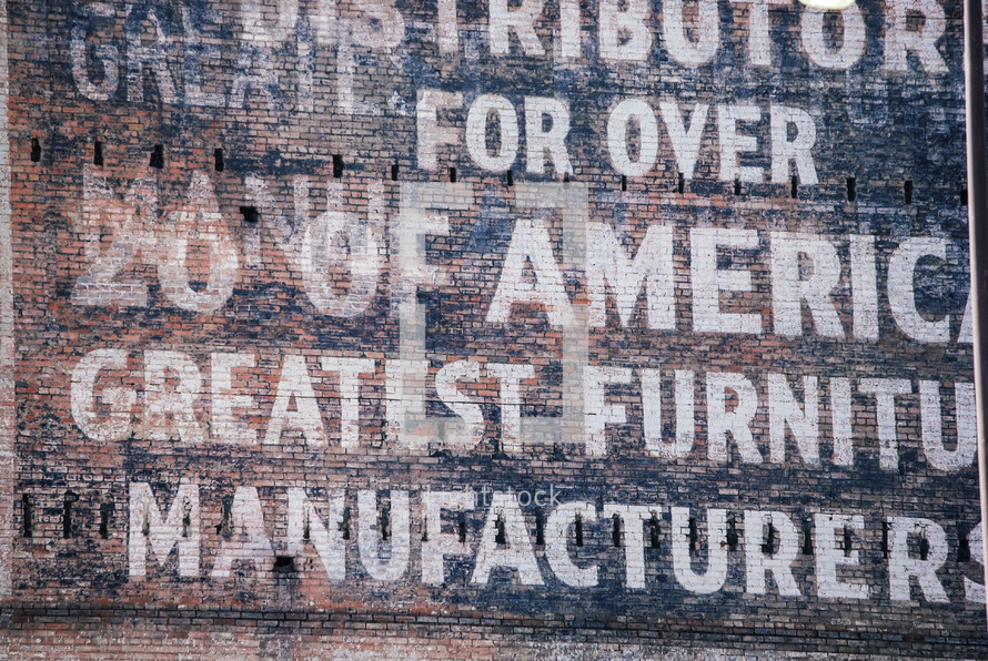 furniture store sign
