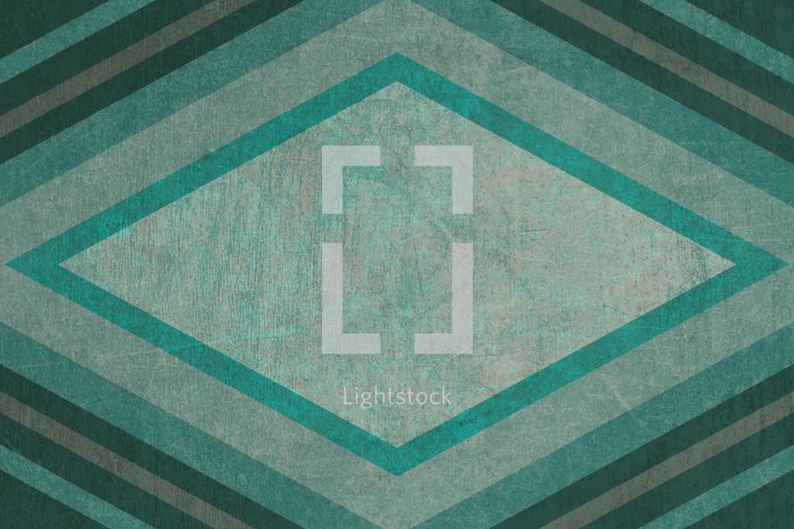 green abstract diamond pattern background