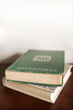 Adventures book with copy space