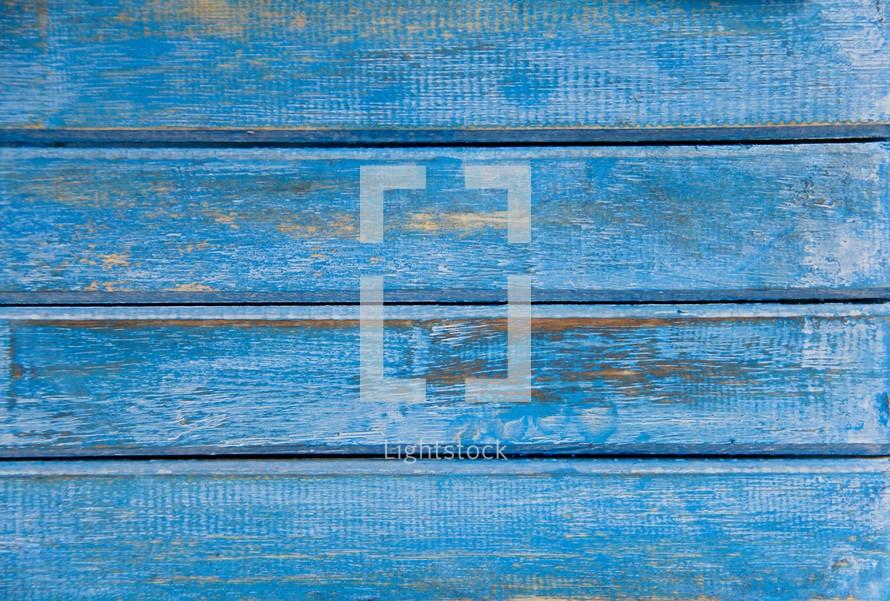 Blue wood boards