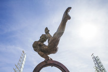 olympic athlete gymnast statue