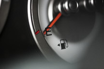 Running on empty -- out of gas.