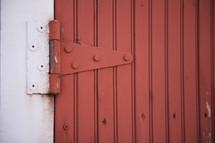 red barn door hinge