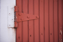 red barn door hinge