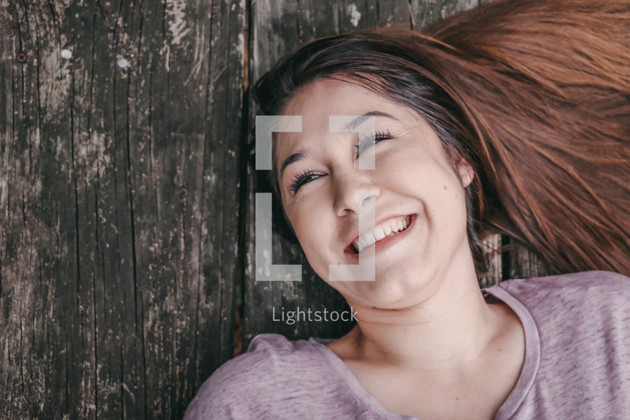 face of a smiling girl