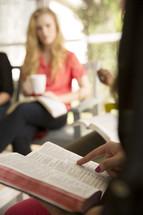 woman's group Bible study reading Bibles