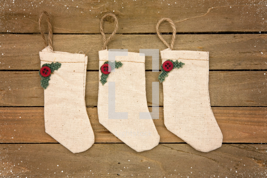 rustic christmas stockings - Rustic Christmas Stocking