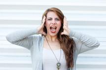 a girl screaming