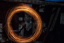 circular spinning red light