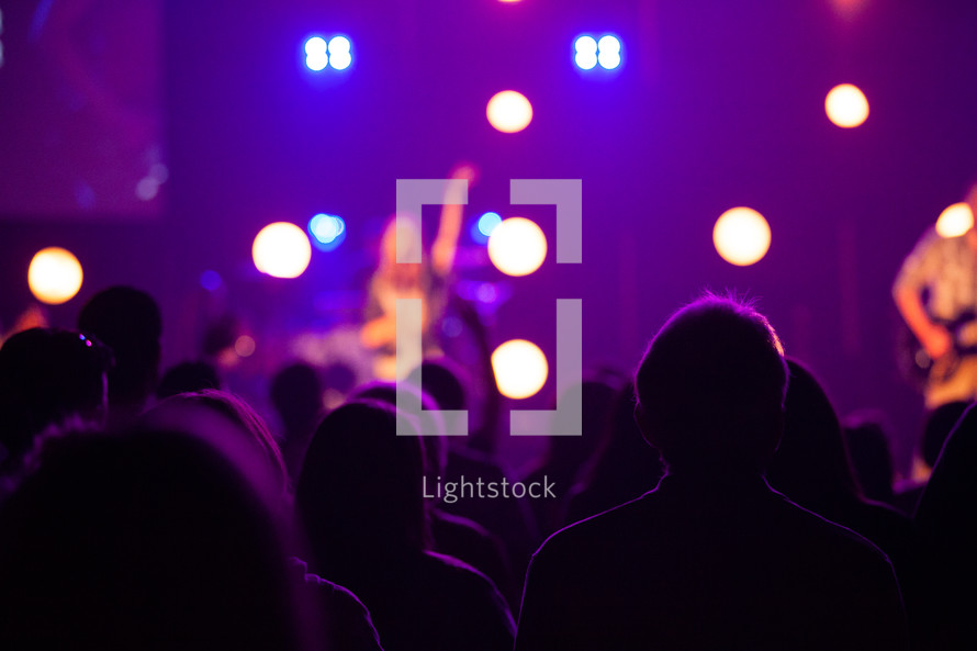 worship service and stage lights
