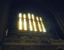 sunlight through windows in a cathedral