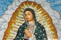 Mosaic of the Blessed Virgin Mary.