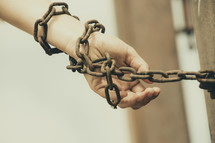 shackled in chains