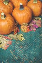 pumpkins and basket weave