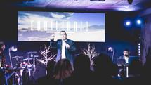 a pastor giving a sermon