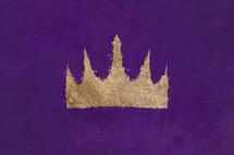 gold crown on Purple