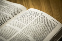 Bible opened to Matthew 28
