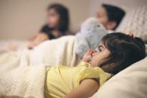 cousins taking a nap