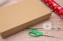 Operation Christmas child, wrapped shoe box