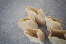 empty paper bags