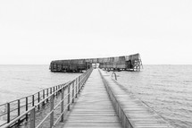 wood dock and pier