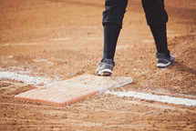 foot on a base in baseball