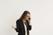 a young woman arguing on a cellphone